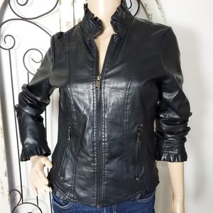 Therapy vegan leather Moto jacket small